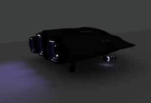 Modern sci-fi aircraft