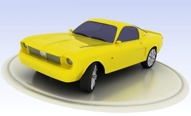 3D Mustang model