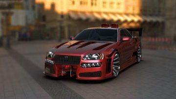Nissan Skyline tunes 3D model