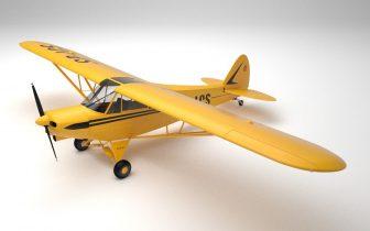 3D Piper PA-18 Supercub model