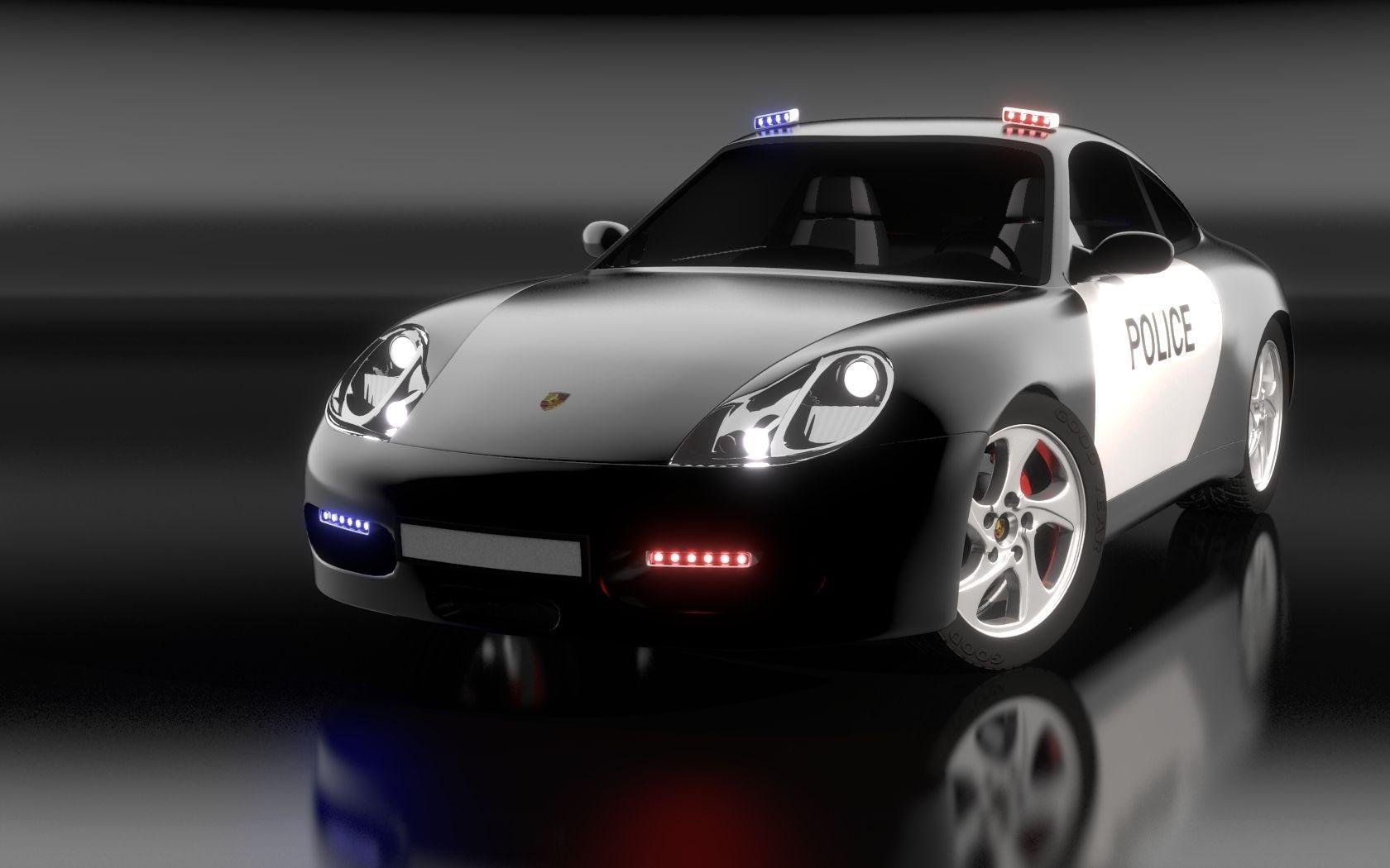 Porsche 911 Carrera S4 Police 3D model