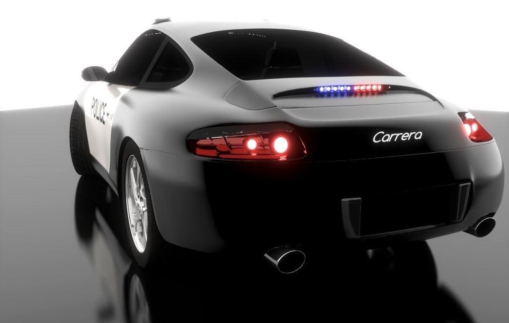 3D Porsche 911 Carrera S4 Police model