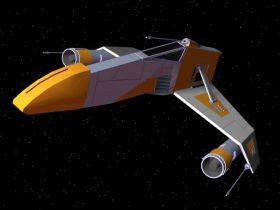Rebel E-Wing Starfighter 3D model