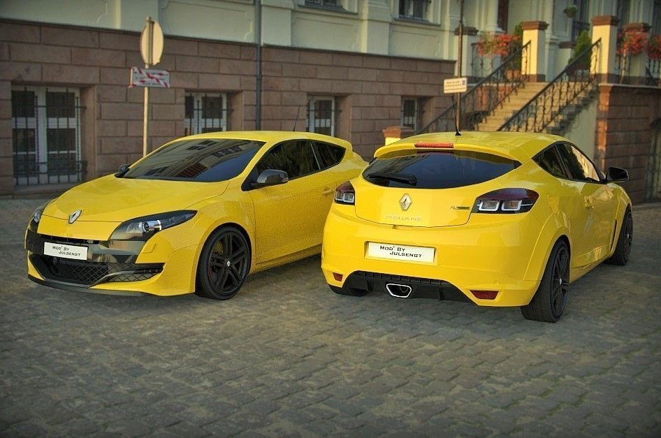 renault megane 3 rs free 3d models. Black Bedroom Furniture Sets. Home Design Ideas
