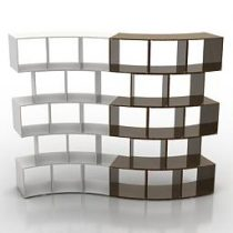 Shelves Antonello Italia River partitions 3d model