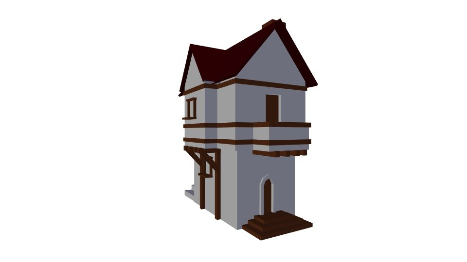 3D Small house model