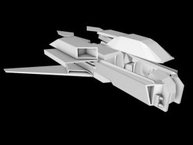 Space Fighter Small 3D model