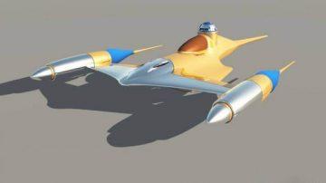 Star Wars naboo fighter 3D model