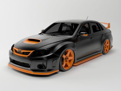Subaru Impreza STI 2011 3D model
