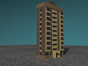 3D The ten-storied house model