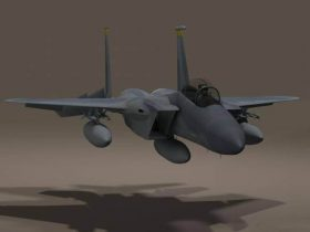 US F-15C Fighter 3D model