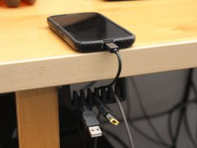 Under the desk cable holder 3D model