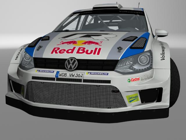 VW Polo 13 WRC 3D model