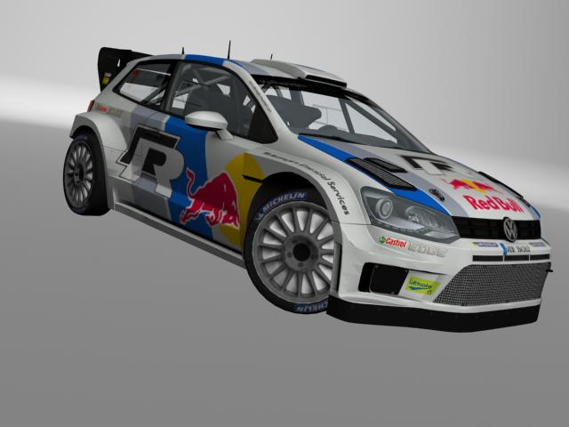 3D VW Polo 13 WRC model
