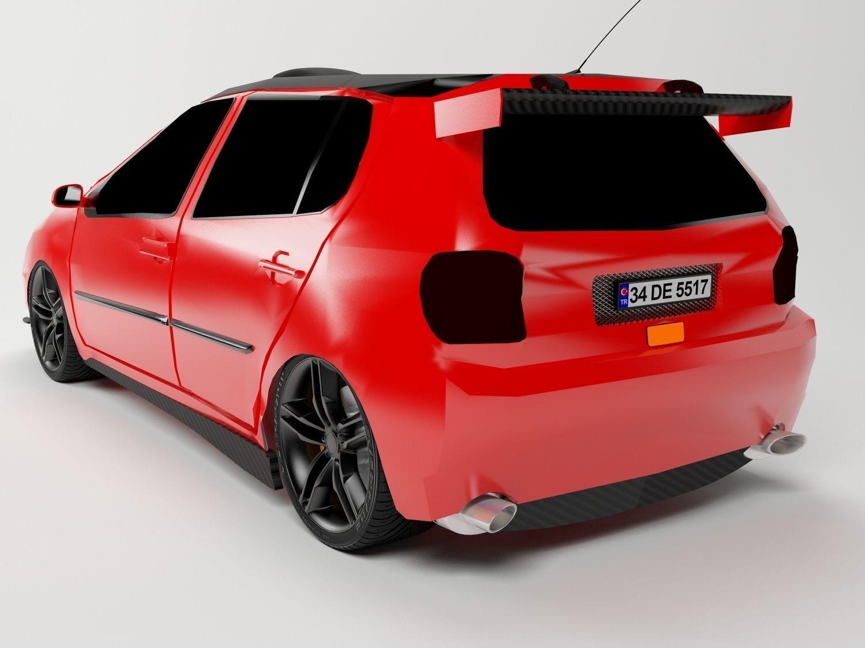 3D Volkswagen Polo 1995 model