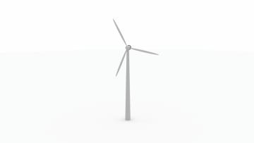 3D Wind power plant model