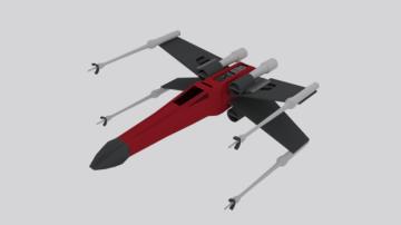 3D X-Wing Star Wars model