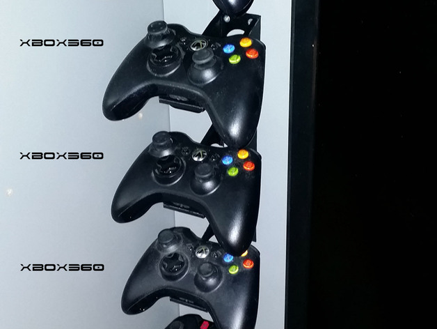 Xbox One Controller Wall or Furniture Mount 3D model