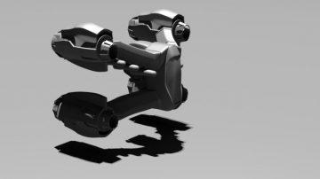 Fighter starship 3D model
