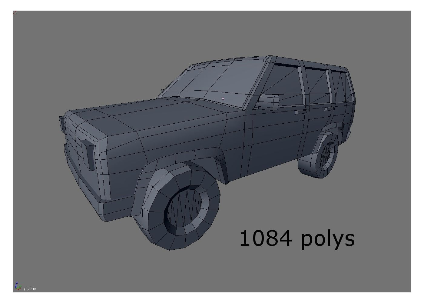 Low poly fire car suv