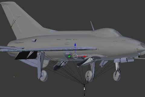 Mig 21C rigged 3D model