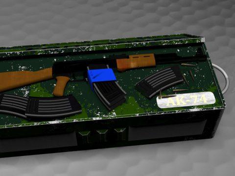 AK74 3D model