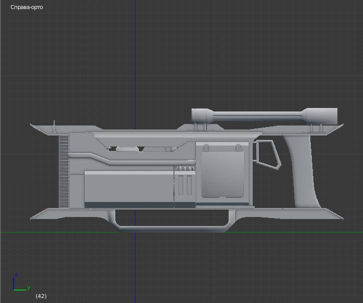 Aila Sci - fi rifle 3D model