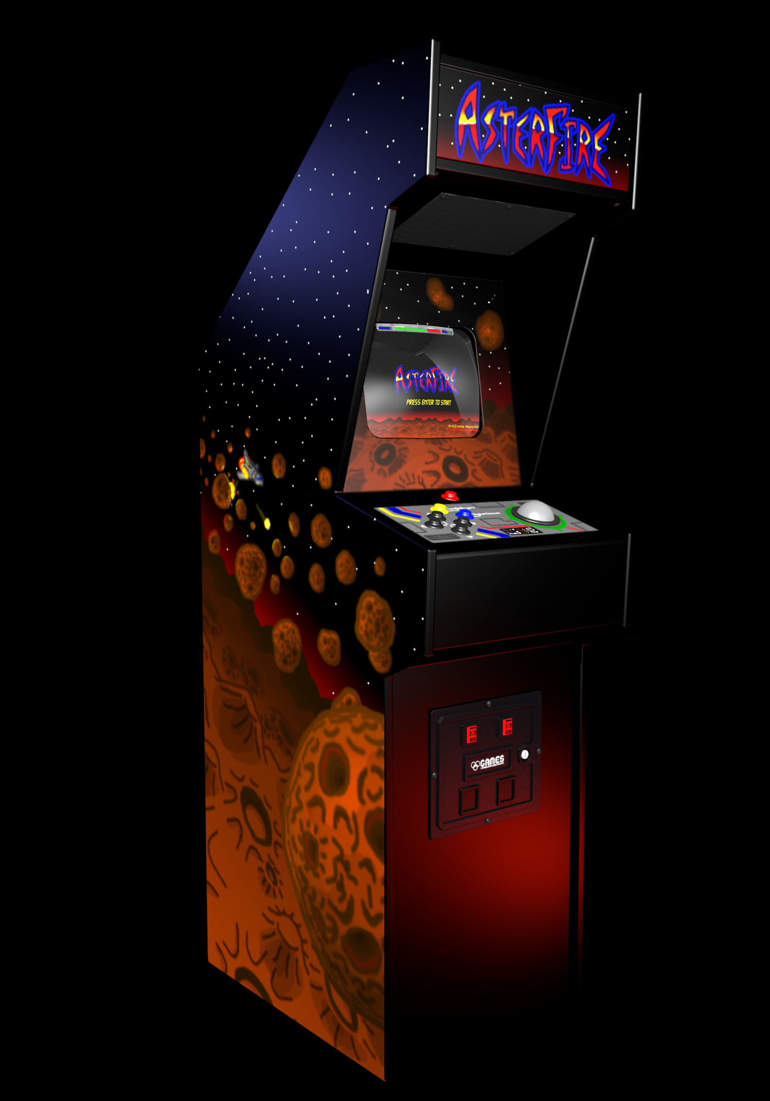 Arcade Cabinet AsterFire 3D model