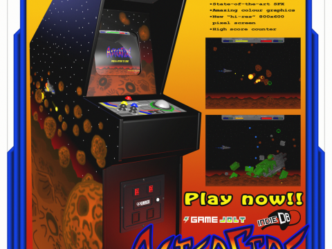3D Arcade Cabinet AsterFire model