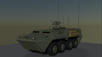 Armored Personnel Carrier APC 3D model