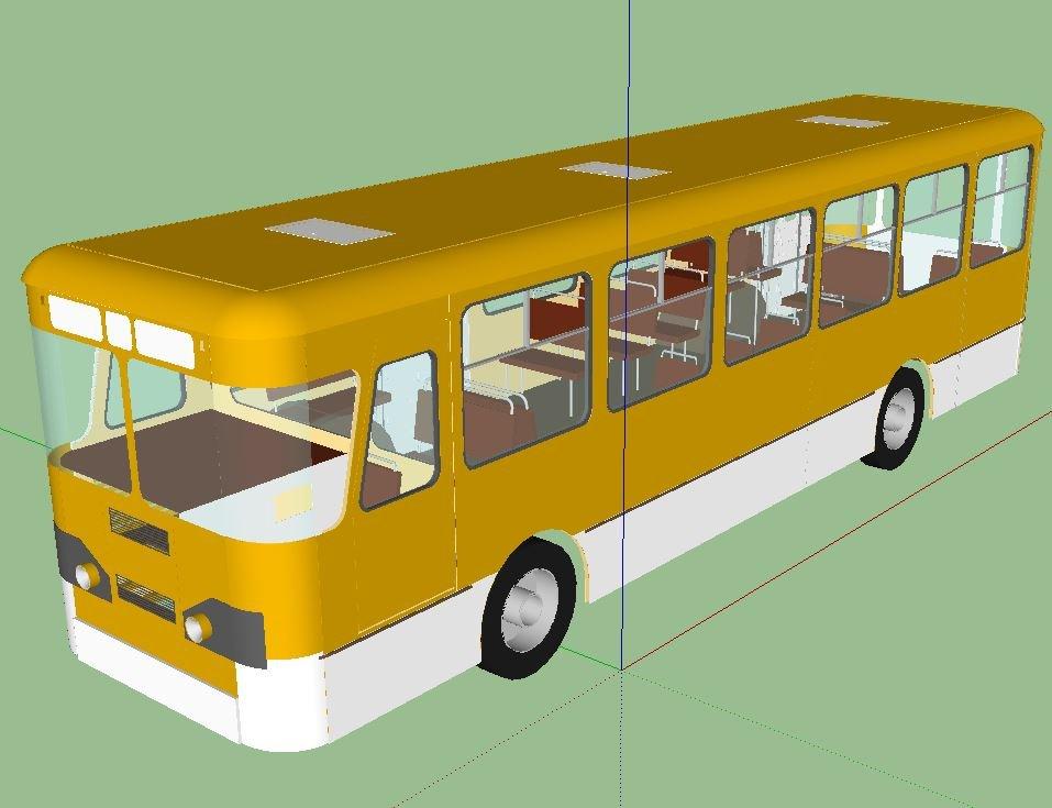 3D Autobus liaz677 model