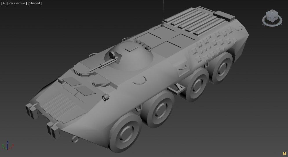 3D BTR-80 model