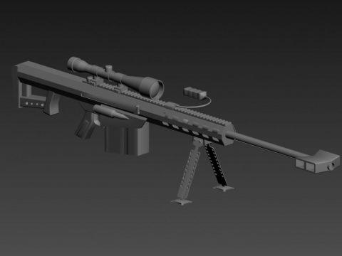 Barrett M107 3D model