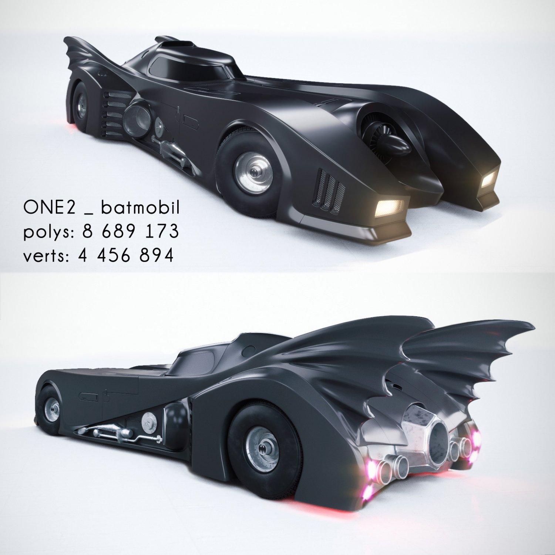 Batmobil 1989 3D model