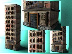 Broken apartement 3D model