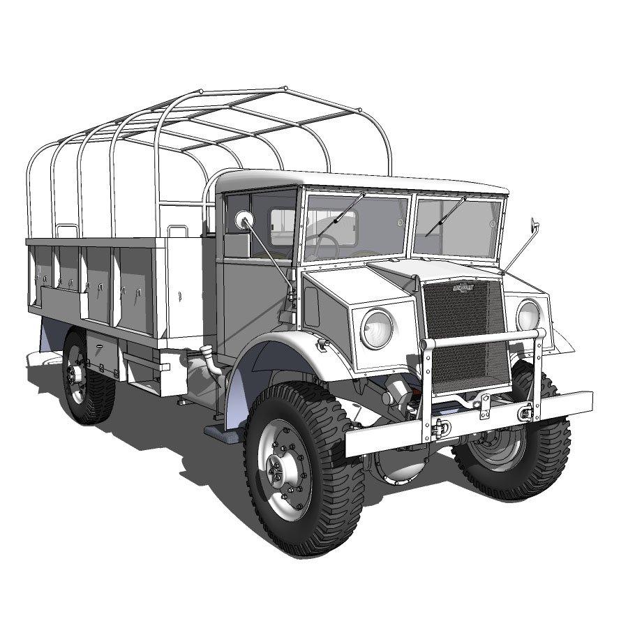 CMP C60L Chev Blitz 3D model