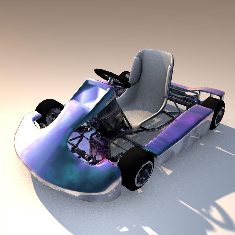 3D Cart Rigged Realistic model
