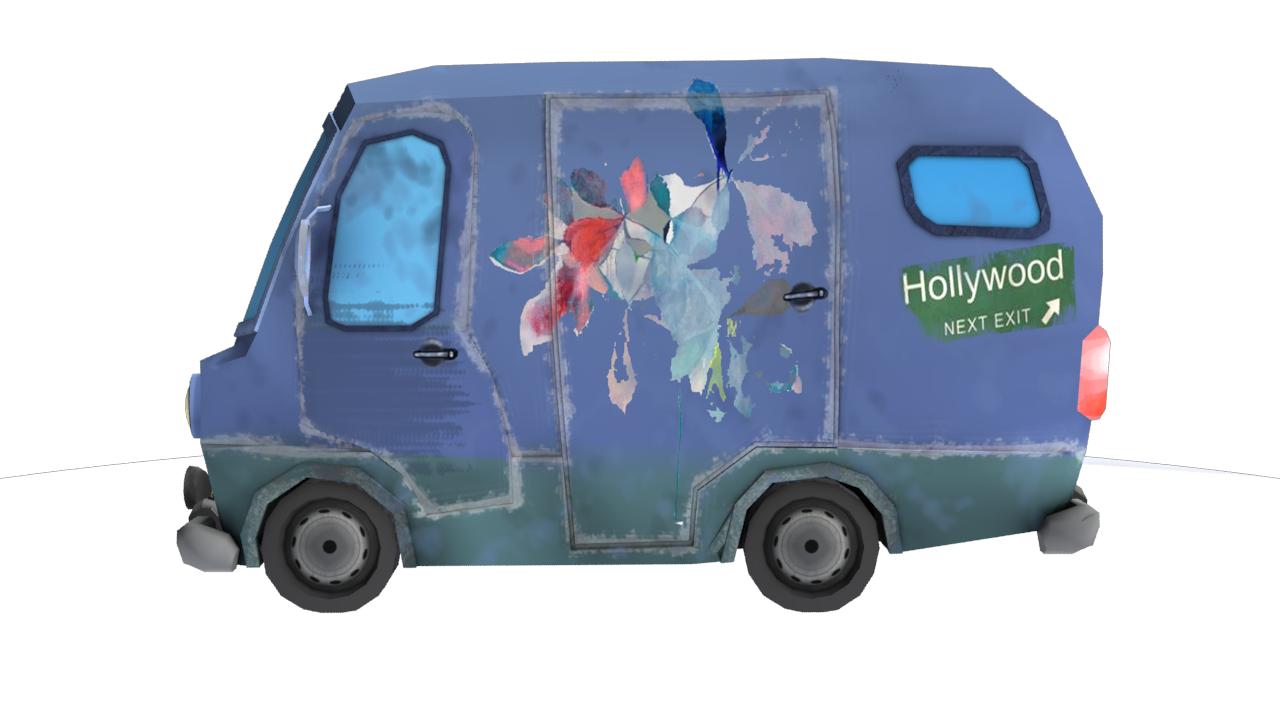 Carton minibus