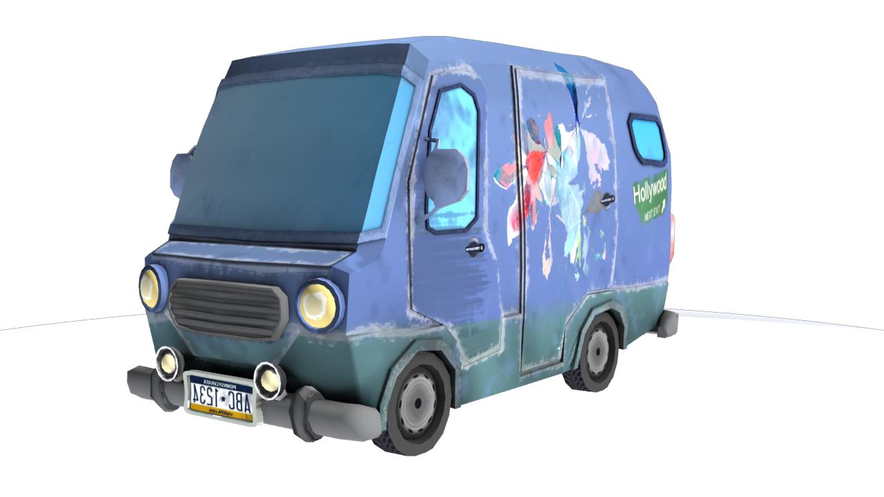 3D Carton minibus model
