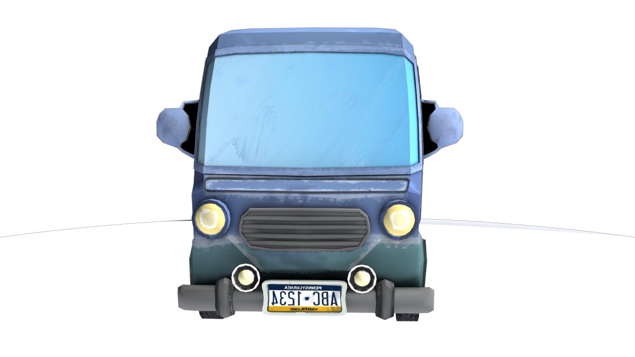 Carton minibus 3D model