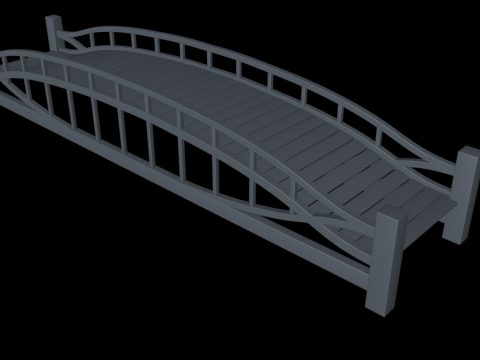 Einfache Brjcke Simple bridge 3D model