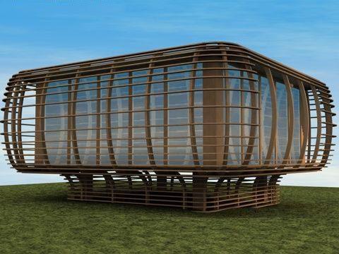 Fincube house 3D model