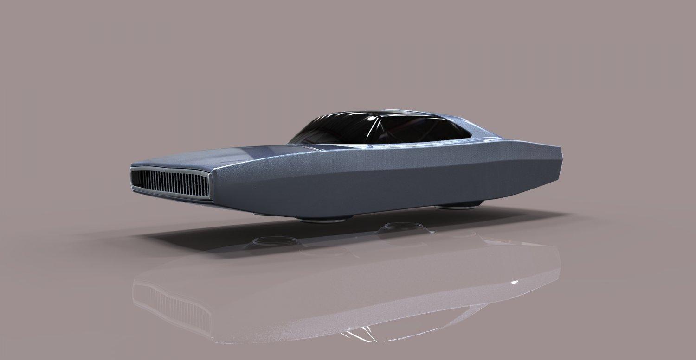 3D Flying Charger model