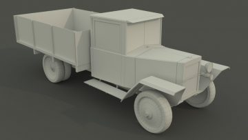 GAZ-MM Low poly 3D model
