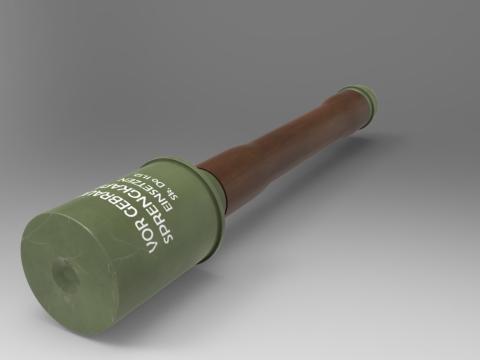German hand grenade 3D model
