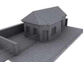 Grey Old House 3D model
