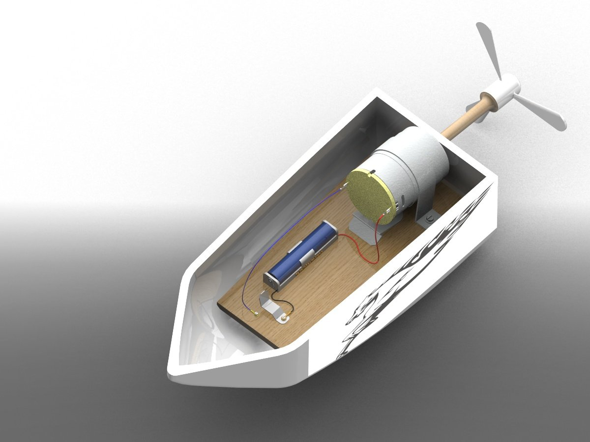 Hobby Electric motor yacht 3D model