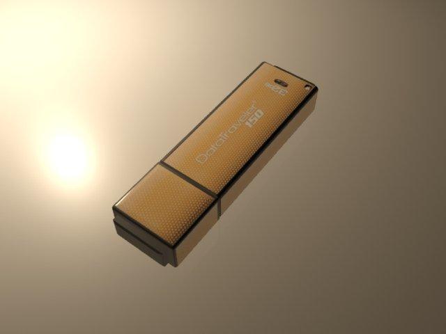 3D Kingston Flash Drive model