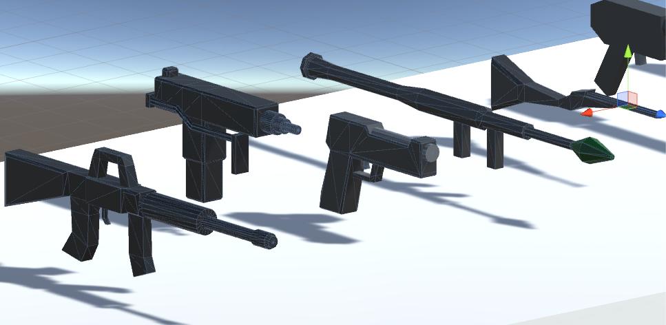 Low-Poly 19 Weapons Pack VR Guns