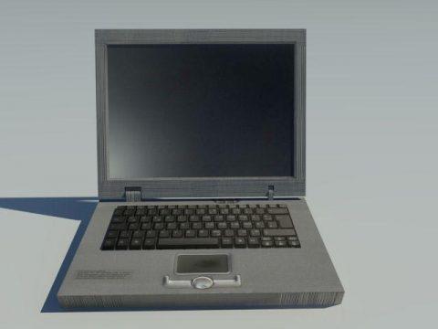 Low Poly old Laptop 3D model